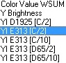Selecting color scales with fixed conditions in EZMQC Color Data View