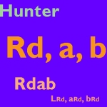 Hunter Rd, a, b Color Scale