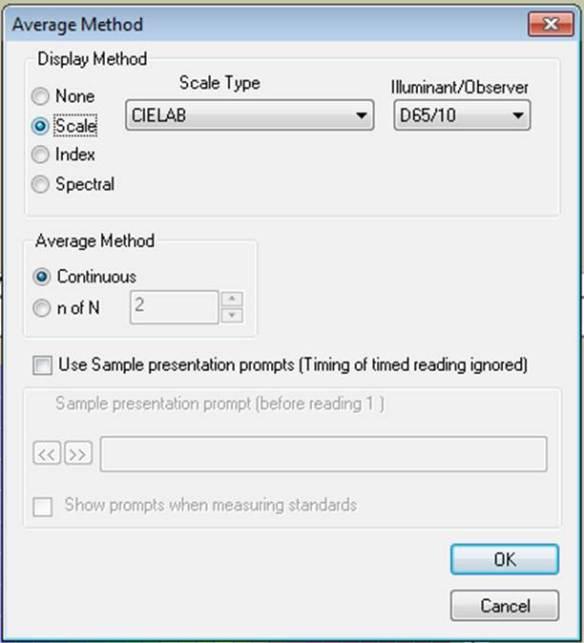 Average Method Window