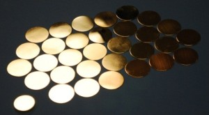 Bare Metal Brass Disks